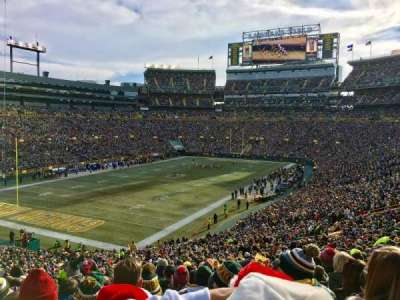 Lambeau Field, section: 108, row: 55, seat: 50