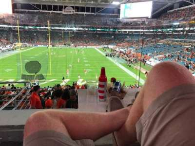 Hard Rock Stadium, section: 203, row: 1, seat: 16