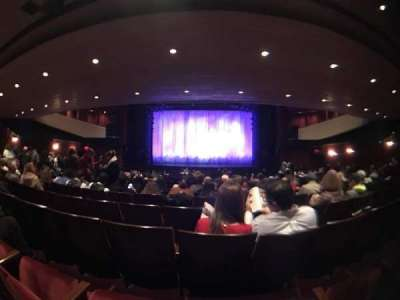 Marquis Theatre, section: Orch Center, row: V, seat: 14