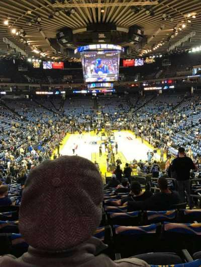 Oracle Arena, section: 108, row: 22, seat: 4