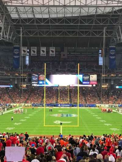 University of Phoenix Stadium, section: 141, row: 39, seat: 8