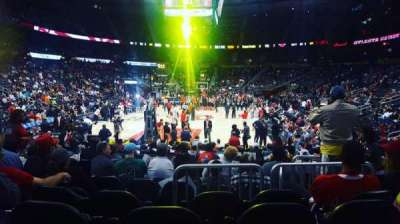 Philips Arena, section: 109, row: D, seat: 6
