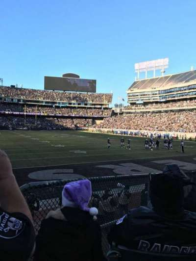 Oakland Alameda Coliseum, section: 109, row: 18, seat: 4