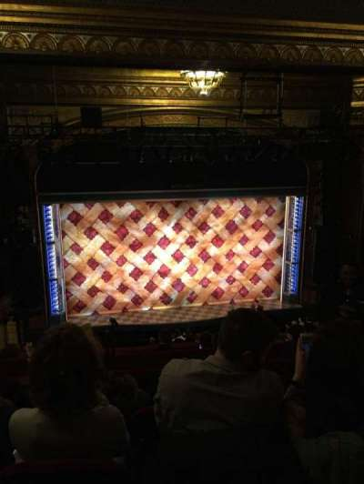 Brooks Atkinson Theatre, section: Rear Mezz, row: H, seat: 121