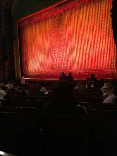 New Amsterdam Theatre, section: Orchestra R, row: M , seat: 18