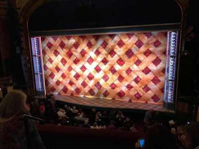 Brooks Atkinson Theatre, section: Front mezz, row: C, seat: 2