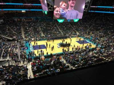 Spectrum Center, section: 210, row: A, seat: 14