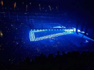 The O2 Arena, section: 419, row: G, seat: 907