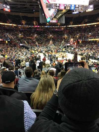 Quicken Loans Arena, section: 133, row: 9, seat: 7