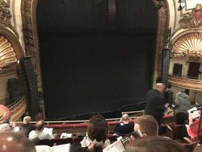 Palace Theatre (Broadway), section: Mezz, row: F, seat: 7