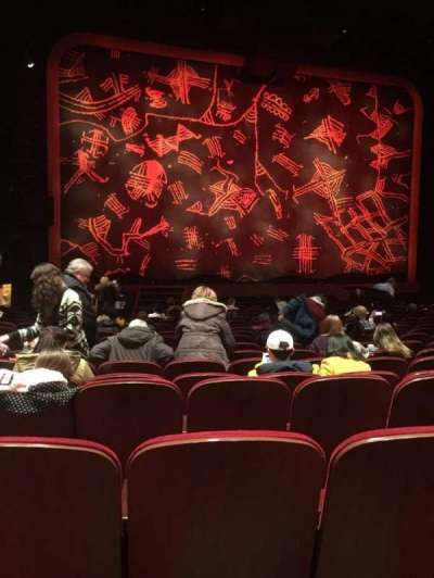Minskoff Theatre, section: ORCH, row: R, seat: 102