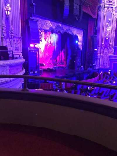 Cadillac Palace Theater, section: Dress Circle L, row: AA, seat: 5