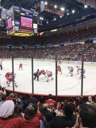 Joe Louis Arena, section: 103, row: 6, seat: 3