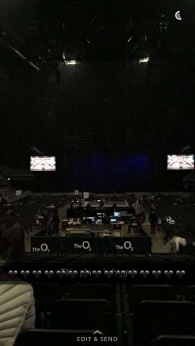 The O2 Arena, section: 107, row: G, seat: 206