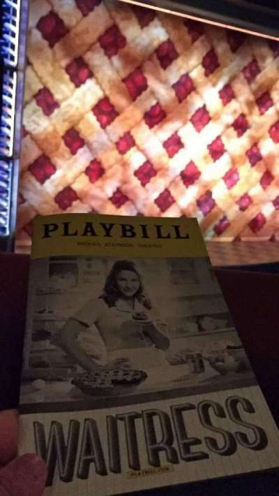 Brooks Atkinson Theatre, section: Left Mezz, row: A, seat: 13