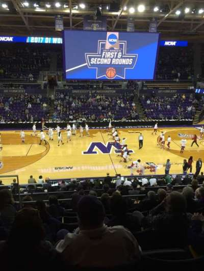 Alaska Airlines Arena at Hec Edmundson Pavilion, section: 1, row: 20, seat: 22