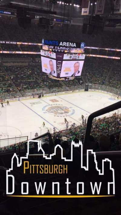 PPG Paints Arena, section: 206, row: H, seat: 1