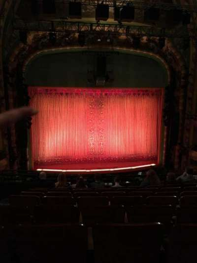 New Amsterdam Theatre, section: Mezz Center, row: HH, seat: 115