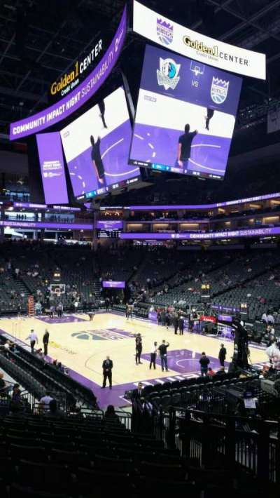 Golden 1 Center, section: 116, row: j, seat: 4