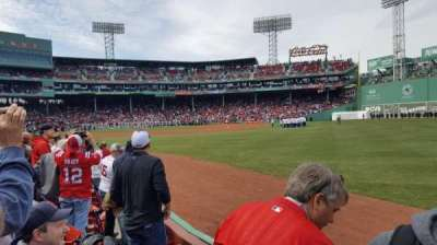 Fenway Park, section: Right Field Box 6, row: D, seat: 15