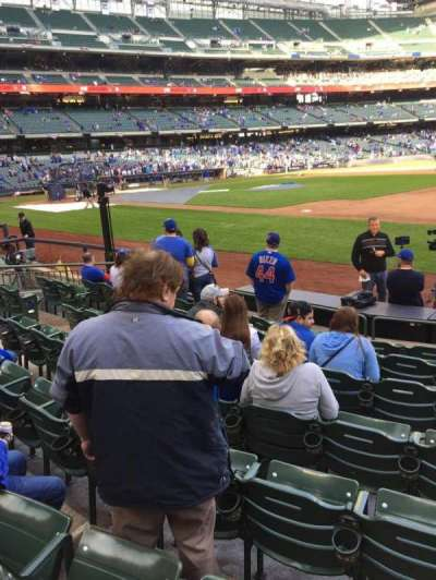 Miller Park, section: 111, row: 8, seat: 12