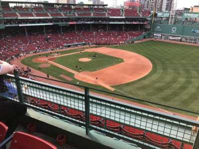 Fenway Park, section: PB13, row: B, seat: 1