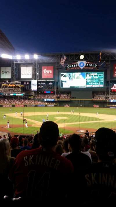 Chase Field, section: 121, row: 35, seat: 4 and 5