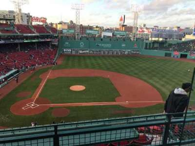 Fenway Park, section: Pavilion Box, row: B, seat: 3