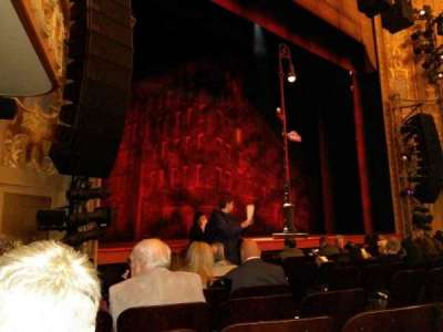 Longacre Theatre, section: orch left, row: H, seat: 10