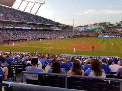 Kauffman Stadium, section: 238, row: AA, seat: 2