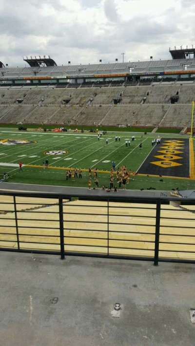 Faurot Field, section: C, row: 40, seat: 10