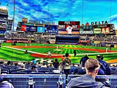 Yankee Stadium, section: 120A, row: 3, seat: 3