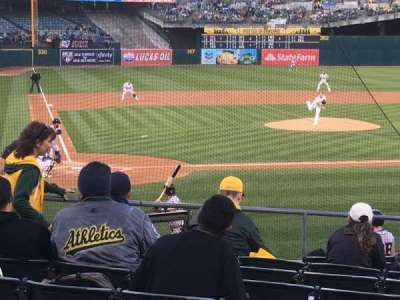 Oakland Alameda Coliseum, section: 115, row: 18, seat: 7