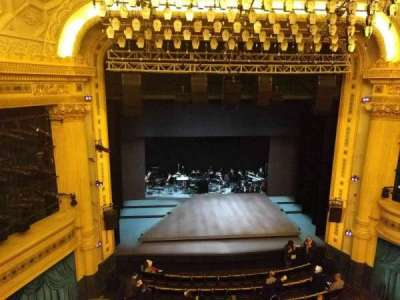 Hudson Theatre, section: Balcony, row: A, seat: 103