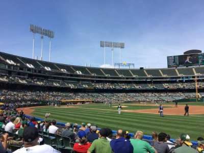 Oakland Alameda Coliseum, section: 109, row: 7, seat: 7
