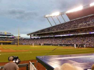 Kauffman Stadium, section: 119, row: B, seat: 7