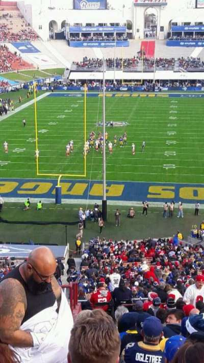 Los Angeles Memorial Coliseum, section: 14H, row: 61, seat: 101