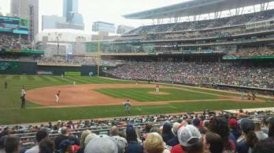 Target Field, section: 121, row: 10, seat: 20