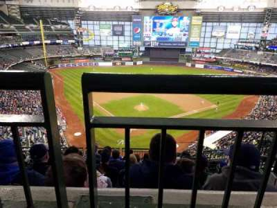 Miller Park, section: 421, row: 8, seat: 11