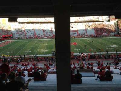 Memorial Stadium (Lincoln), section: 27, row: 43, seat: 16-17-18