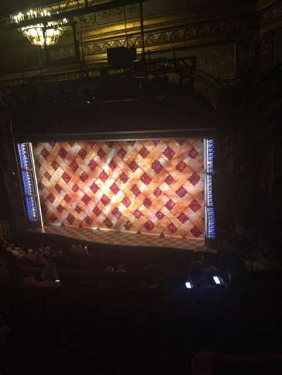 Brooks Atkinson Theatre, section: mezz, row: F, seat: 2
