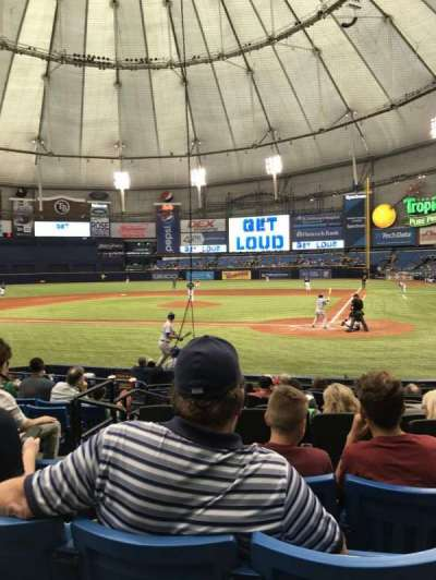 Tropicana Field, section: 107, row: P, seat: 5
