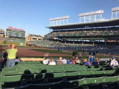 Wrigley Field, section: 10, row: 9, seat: 1