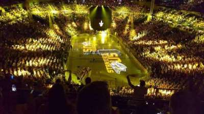 Bridgestone Arena, section: 301, row: H, seat: 12
