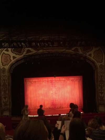 Cadillac Palace Theater, section: Balcony C, row: J, seat: 312