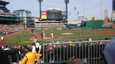 PNC Park, section: 114, row: B, seat: 12