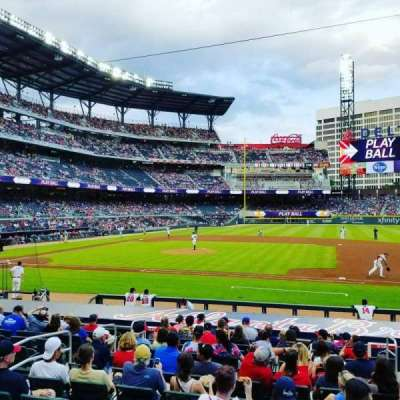 SunTrust Park, section: 118, row: 2, seat: 12