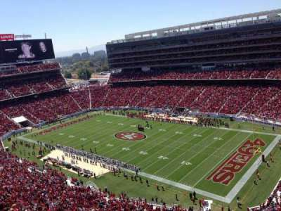 levi's stadium, section: 405, row: 3, seat: 25