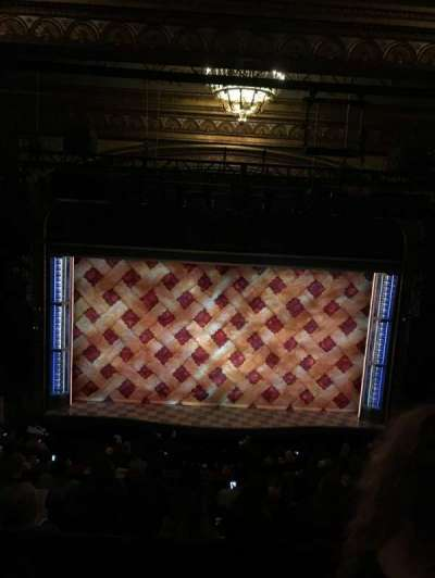 Brooks Atkinson Theatre, section: MEZZ, row: F, seat: 115