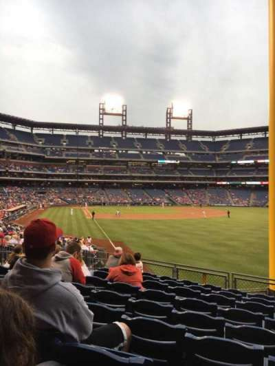 Citizens Bank Park, section: 107, row: 12, seat: 12